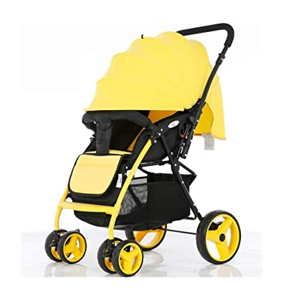 REMTI Sillas de paseo Cochecito para bebés Sentado Sentada Mentira Vista alta Portátil Plegable a cuatro