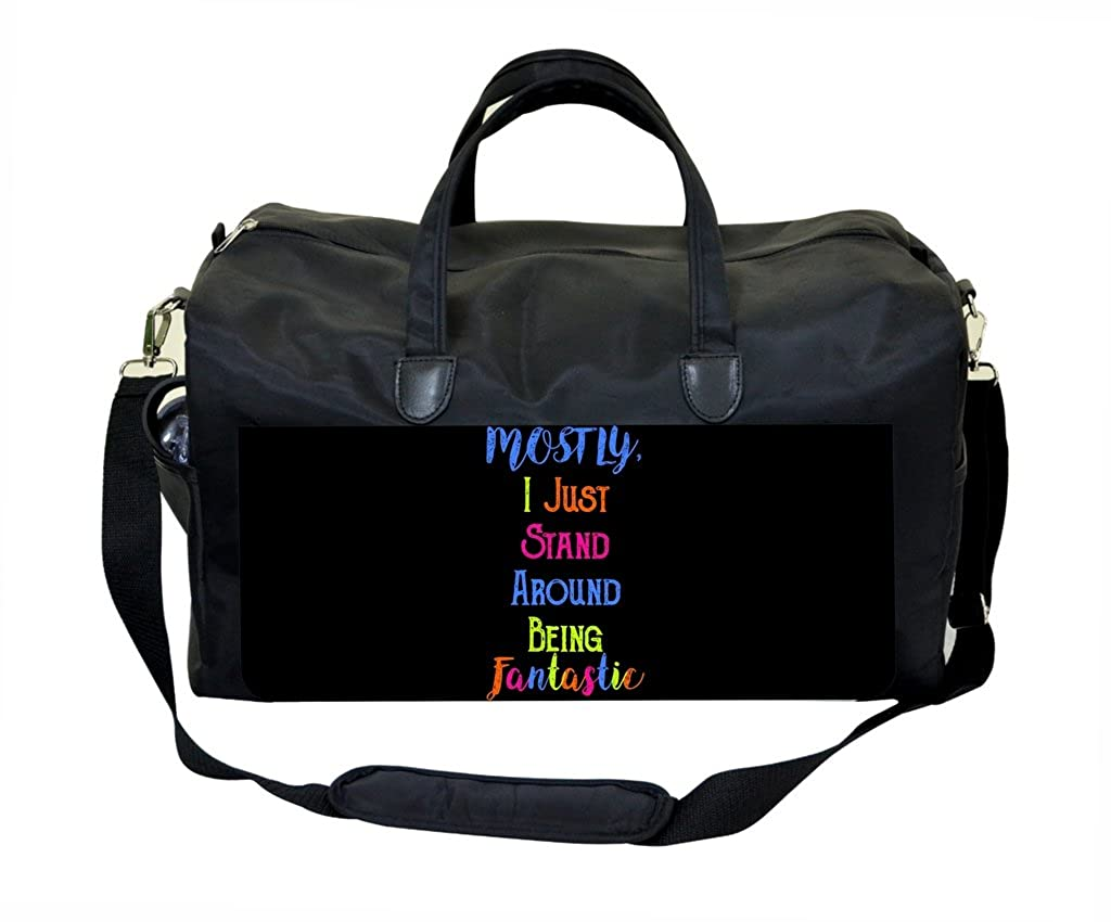 Fantastic Quote in Color PU Leather and Suede Weekender Bag