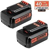 Replace Black and Decker 40V Battery for LBX2040 LBX36 LBXR36 LBXR2036 Lithium Ion Battery 2-Pack