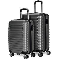 NEWTECK - Juego de Maletas de Viaje 2pzs, Mediana 63x39,5x26,8cm, Pequeña 53x33,5x22cm. Set de Maletas de Viaje Rígidas…