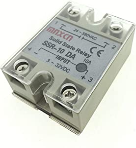 YXQ SSR-10DA Solid State Relay 3-32VDC Input 24-380VAC Output Small AC Exchange Type Electronic Controller