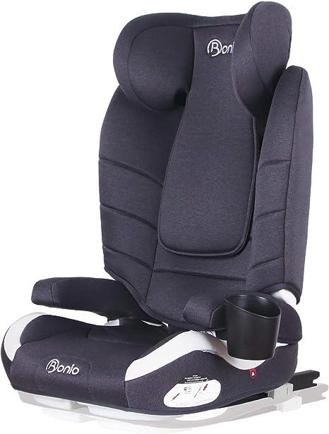 Bonio Silla de coche Grupo 2/3 (15-36 kg) con ISOFIX ECE R44/04 (Gris): Amazon.es: Bebé