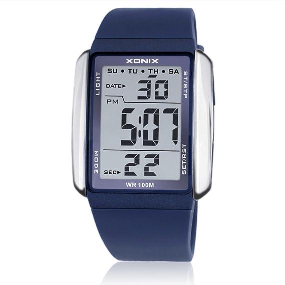 Pareja reloj hombresS reloj señoras reloj grandes números luminosos impermeable multifunción movimiento electrónico led reloj-