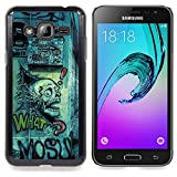 Eason Shop / Hard Slim Snap-On Case Cover Shell - Grafiti Street Art Drawing Skull Quote Slogan - For Samsung Galaxy J3 GSM-J300