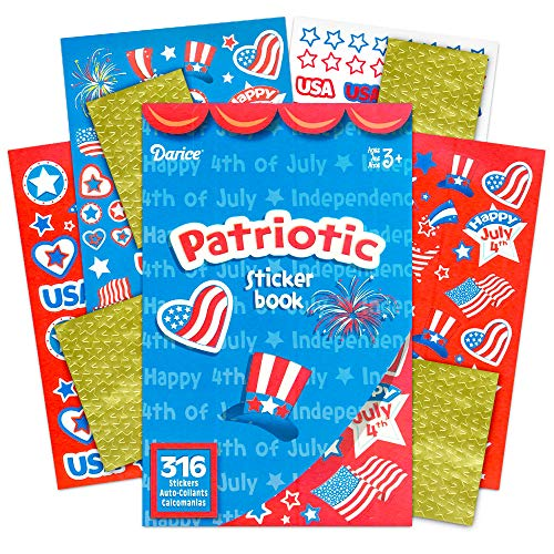 Patriotic American Flag Stickers Party Favors Set -- Over 750 USA Stickers (4th of July Party Supplies)