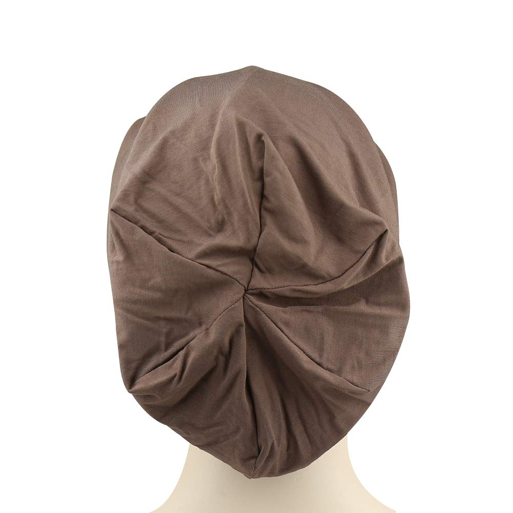 802547e45d2 Alnorm Cozy Satin Lined Slouchy Beanie Cap with Soft Elastic Band for Men     Women