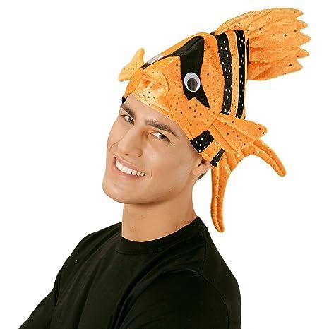 Buffo cappello pesce tropici cappellino arancione berretto da animale  copricapo di carnevale Nemo - bccb5711a07b