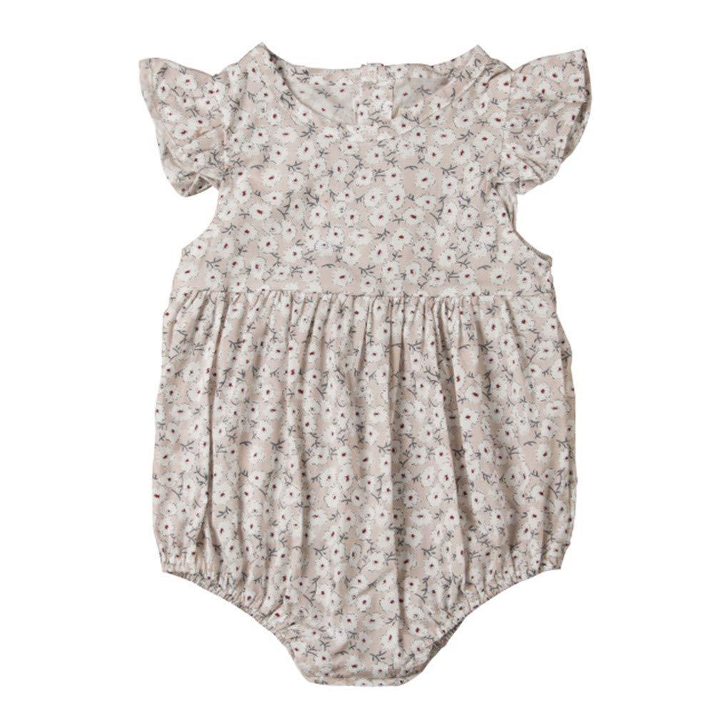 Wang-RX Flor Bebé recién Nacido Mamelucos Verano Ropa para ...