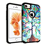 iPhone 8 Case, DURARMOR Colorful Love Tree Dual - Best Reviews Guide