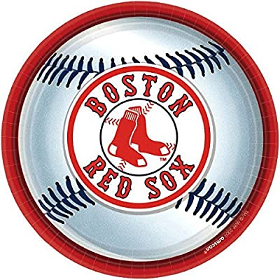 """Boston Red Sox Major League Baseball Collection"" 9"" Round, Party Plates: Toys & Games"