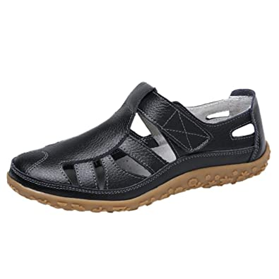 979e1edf76ffd Amazon.com: DOMUMY Rainbow Sandals, Fashion Lady Retro Solid Color ...