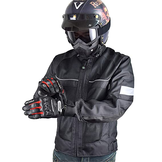 Amazon.com: Men Motocross Motorbike Racing Jacket Riding Jersey Summer Breathable Reflective Clothes: Clothing
