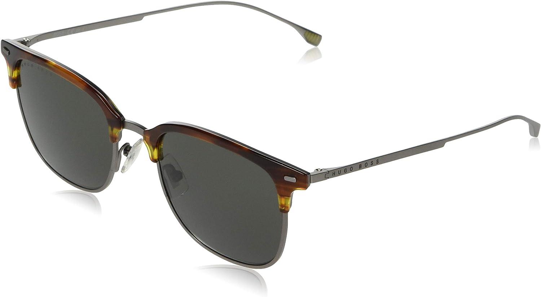 Sunglasses Boss Black 1037 //S 0086 Dark Havana//QT green lens