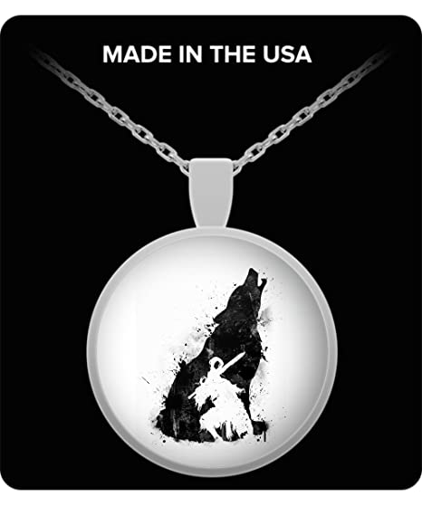 Amazon trinkets novelty abyss warrior necklace pendant charm trinkets novelty abyss warrior necklace pendant charm knights of gwyn wolf dark souls game design aloadofball Image collections