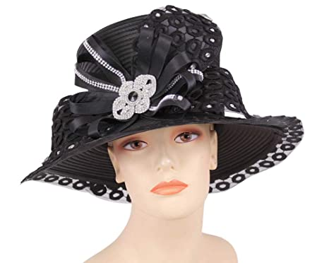 f944722579f Ms Divine Women s Church Hats Dress Formal Hats  HL57 (Black) at ...