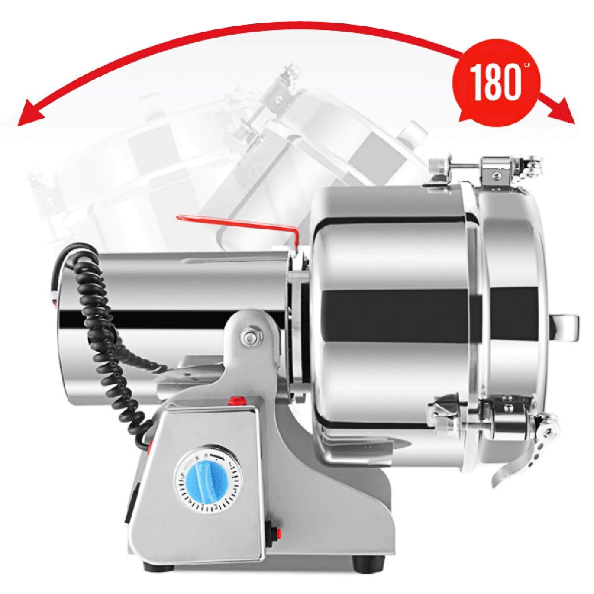 RRH 1000G Swing Type Grain Mill Electric Spice Nut and Coffee Grinder High Speed 25000 RPM Stainless Steel 2800W Powder Machine 50-300 Mesh, for Herbs Corn Sesame Soybean Pepper Bait Feed by RRH (Image #6)