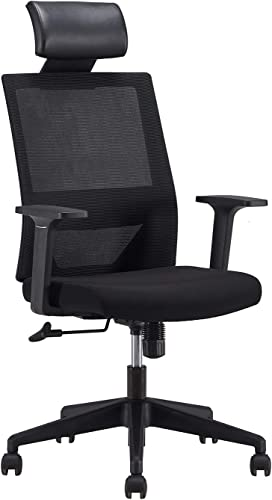 Ergonomic High Back Office Desk Chair Lumbar Support Breathable Mesh Swivel Chair