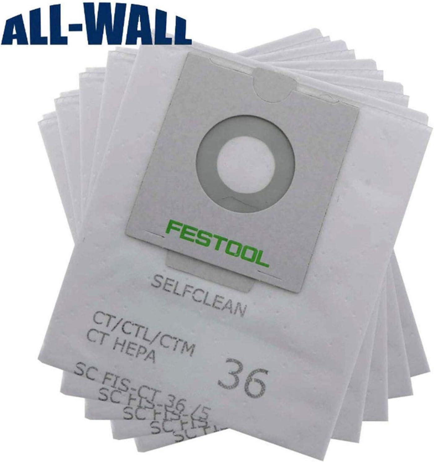 Zealand SC Fis-CT 36 - Bolsas para aspiradora Industrial Festool 496186 (5 Unidades): Amazon.es: Hogar