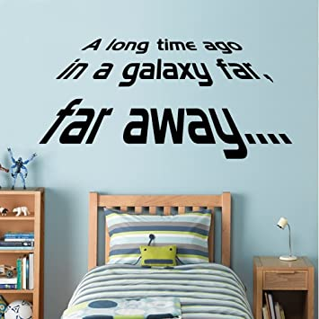 Star Wars A Long Time Ago Wall Decal Art Sticker Boys Bedroom - Star wars wall decals uk