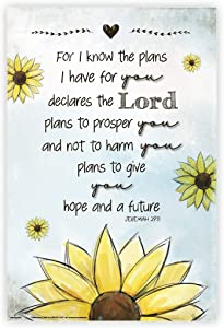 """UMA Gifts Bible Verse Poster 16"""" x 24"""" Bible Posters for Classroom, Church, Sunday School, or Homeschool, Christian Wall Art, Religious Decorations 