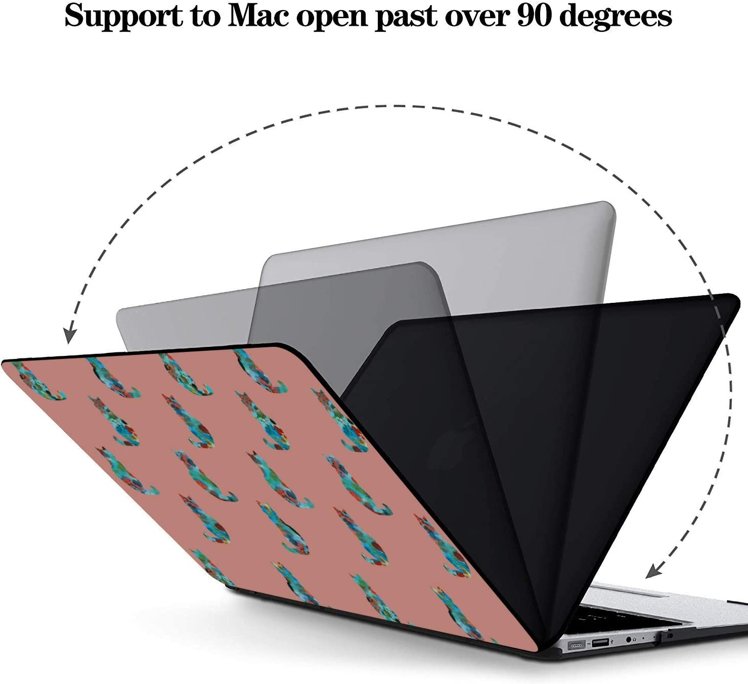 15 Inch Laptop Case Smart Warm Heart Gift Animal Pet Cat Plastic Hard Shell Compatible Mac Air 11 Pro 13 15 MacBook Pro 15 Accessories Protection for MacBook 2016-2019 Version