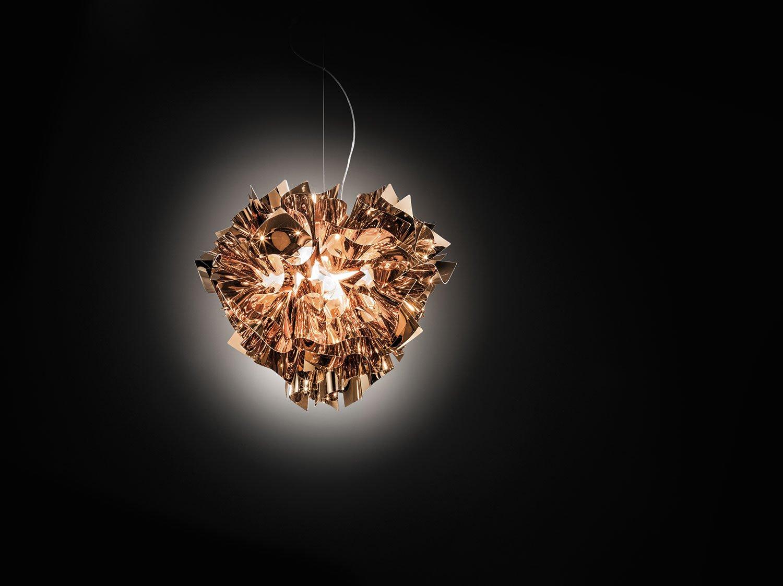 Slamp acrilico lampada a sospensione veli in rame manifattura