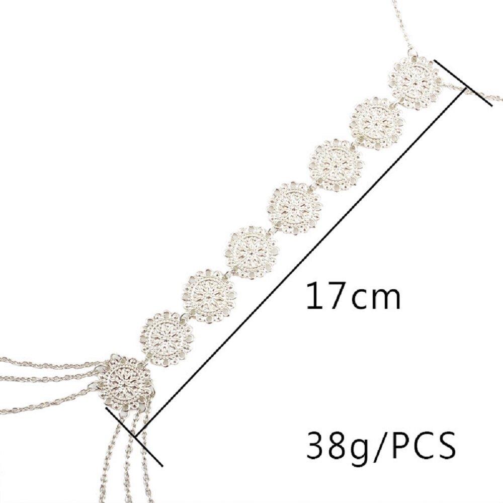 JeVenisSexy HarnessBikiniBralette BodyChainsCrossover Harness Waist Belly Body Chain Necklace (Silver) by JeVenis (Image #7)