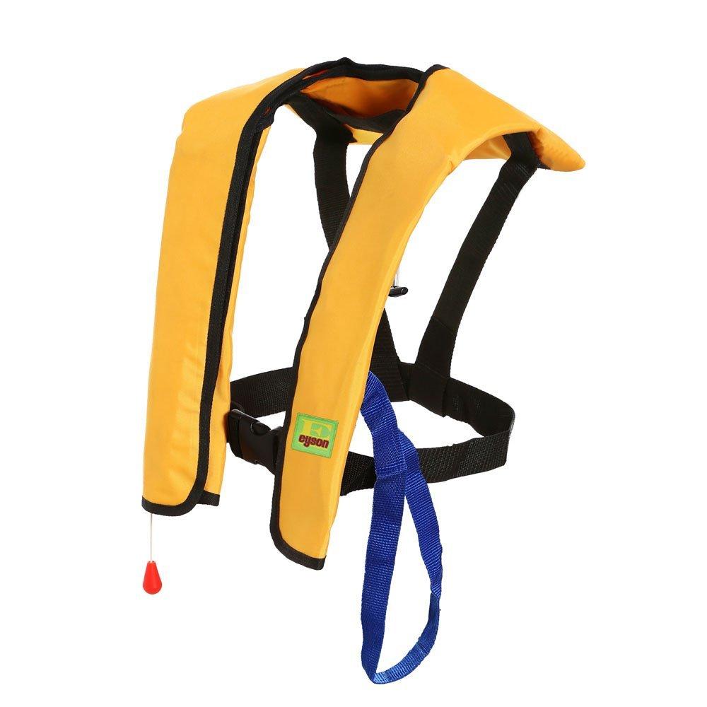 プレミアム品質のマニュアルインフレータブルライフジャケット Lifejacket PFDフローティングライフベスト サバイバル生存補助をするインフレータブルでPFDの基礎  イエロー B01H2WJ7CA