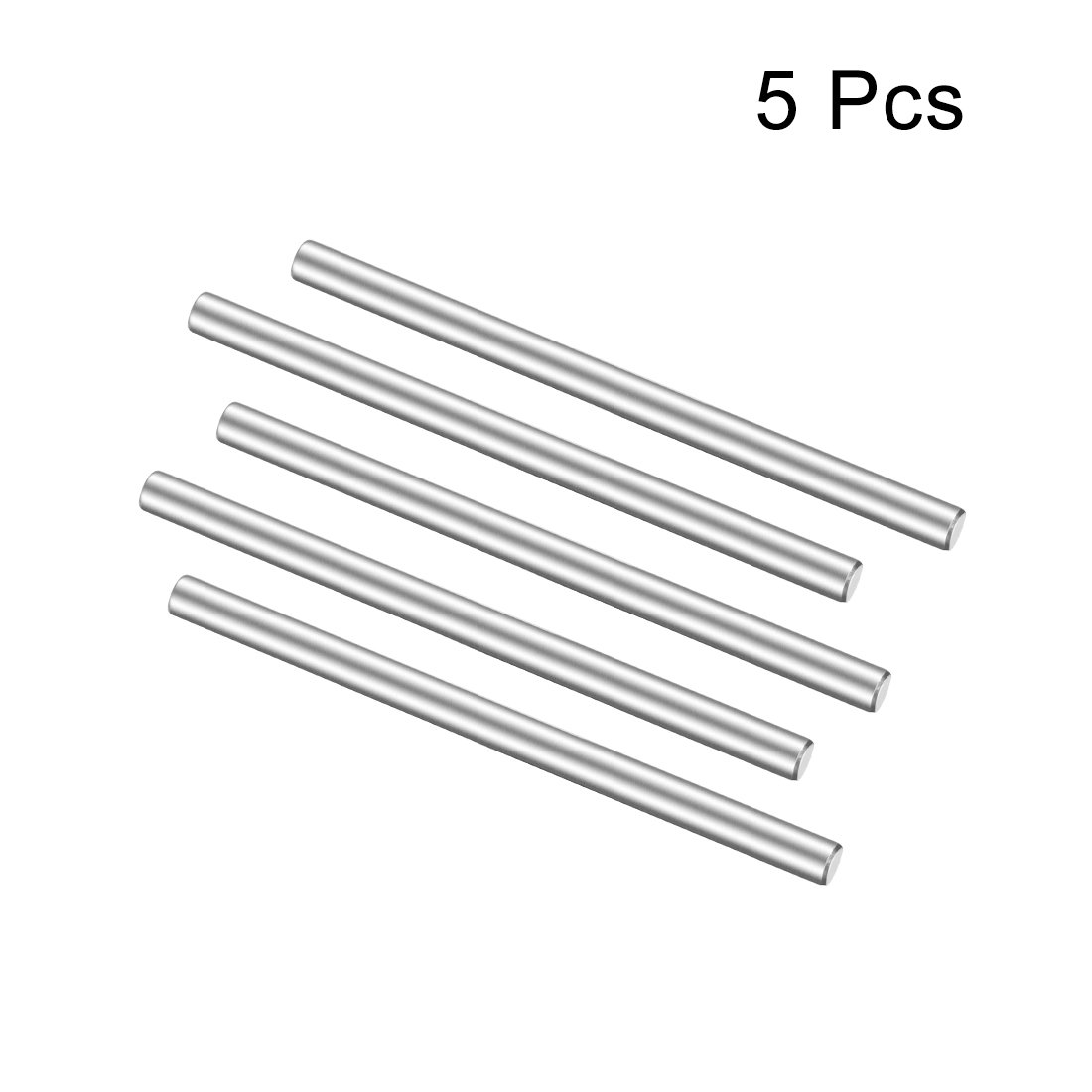 uxcell Stainless Steel Round Shaft Rod Axle 3mm x 50mm for RC Toy Car