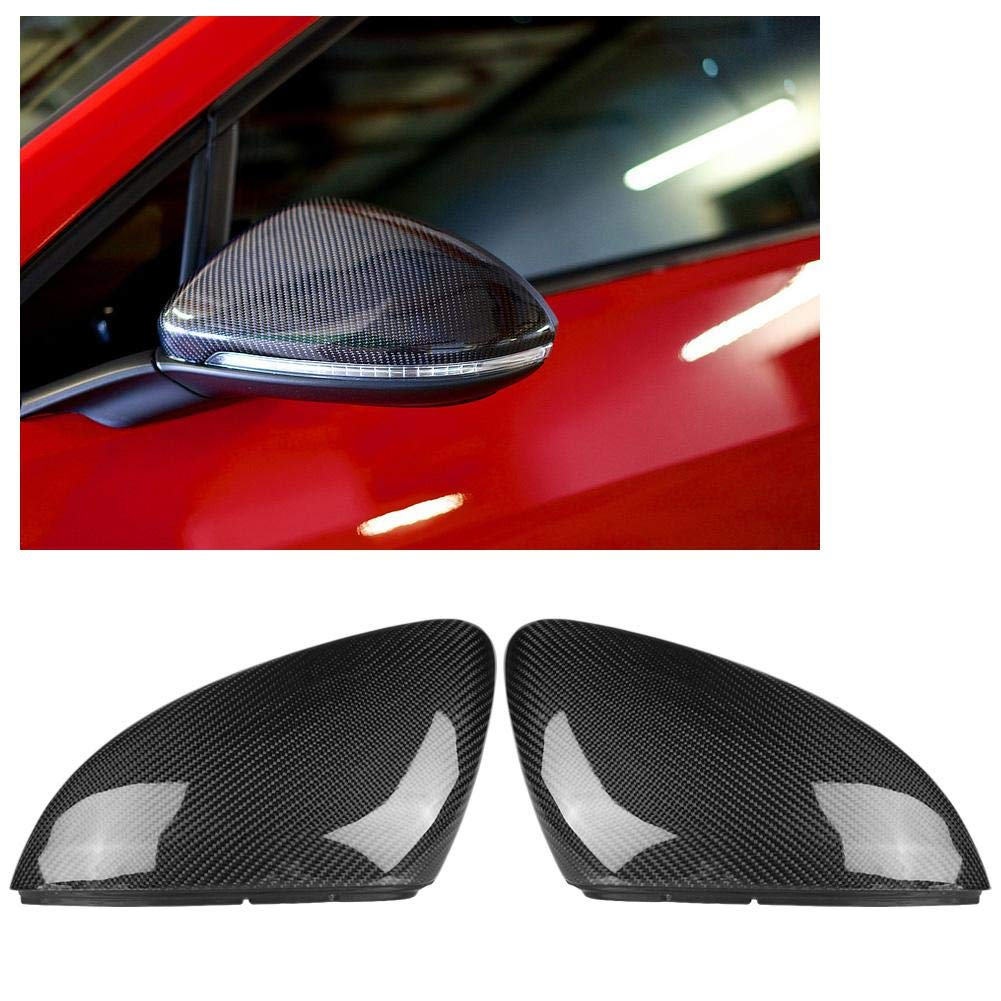 Car Rear View Mirror Cover Cap Car Modification 13-18 Volk-swagen G-olf 7 Carbon Fiber Mirror Housing Left And Right 1 Pair Rearview Mirror Cover For Volks-wagen G-olf