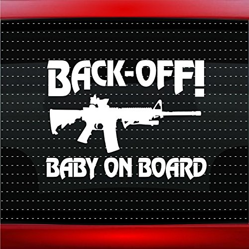 Noizy Graphics Baby On Board # 3 AR Car Sticker Truck Window Vinyl Decal Color: Black (Best Way To Ship A Skateboard Deck)