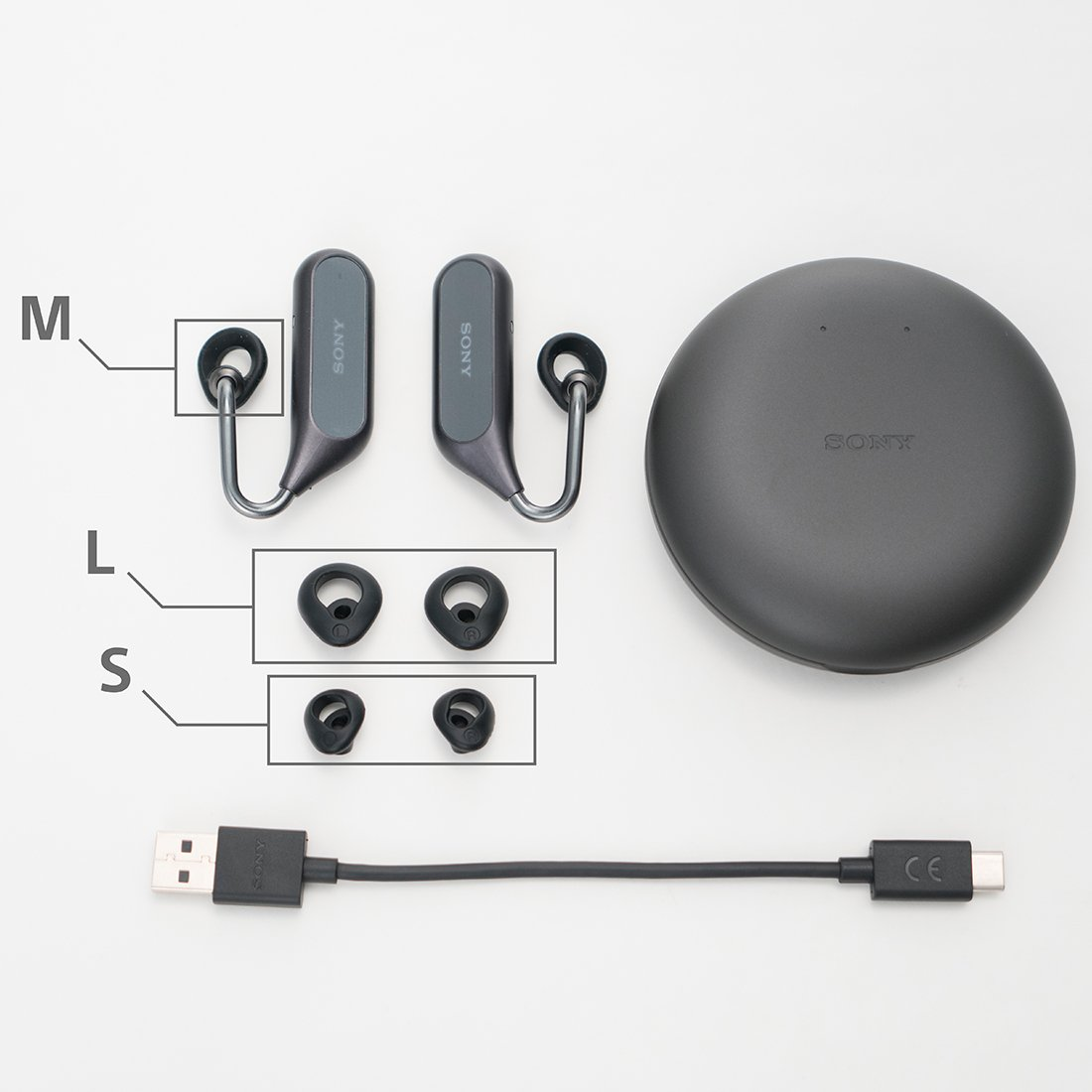 Open Ear Voice Assistant Feature Quad-Beam-Forming Microphone Equipped 2018 Model Black XEA20JP B Sony SONY Completely Wireless Earphone Xperia Ear Duo XEA20JP