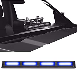 Striker TIR 4 Head LED Dash Light for Emergency Vehicles/Warning Strobe Deck/Dash Light Windshield Mount - Blue/Blue