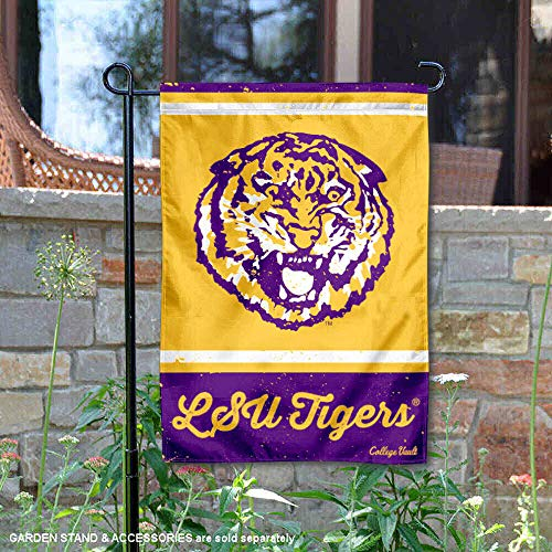 (Wincraft Louisiana State LSU Tigers Vintage Retro Throwback Garden Flag)