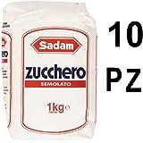 Eridania Sadam Zucchero semolato Confezione da 10 Sacchetti da 1 chilogrammo ciascuno (1000045922)