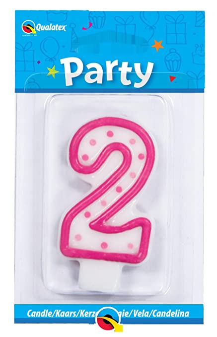 Amazon Pink Polka Dots Number 2 Age Shaped Birthday Cake