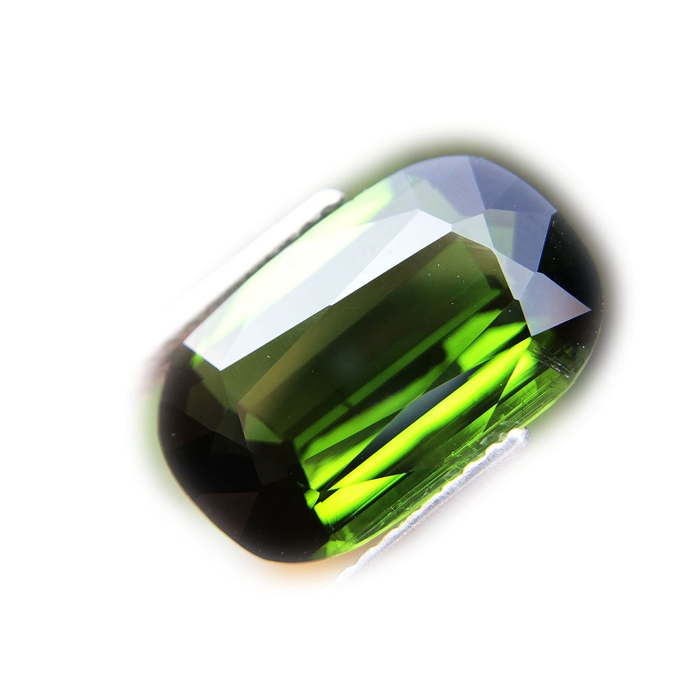 5.06ct Natural Cushion Unheated Green Tourmaline Nigeria #B