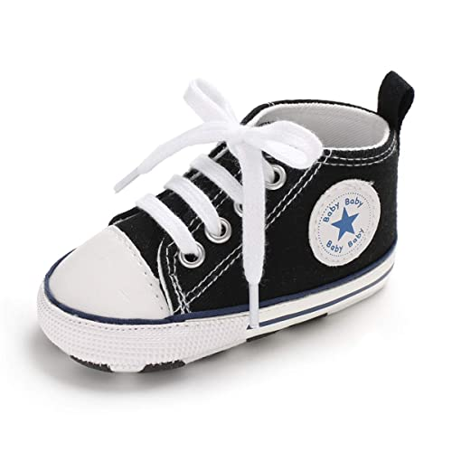 393dd6a4c Baby Boys Girls Canvas Shoes Basic Sneakers Lace Up Infant Newborn First  Walker Prewalker Shoes(