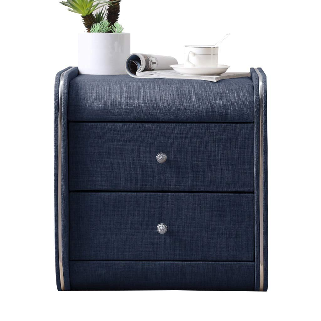 Nightstand Schubladenschrank dekorative Vitrine Fototisch Doppelschublade/mehrere Farben 45 x 42 x 48cm # Farbe : B DS*Nachttisch Nachttisch aus Stoff