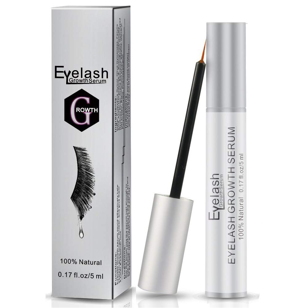 Eyelashes Growth Serum, Beyond Eyelashes Enhancer Natural Plant-Based Ingredients Eyelash Extension Primer for Enhancing Longer Fuller Thicker Eyelashes Eyebrows, No False Eyelashes with Messy Glue, 5 ML