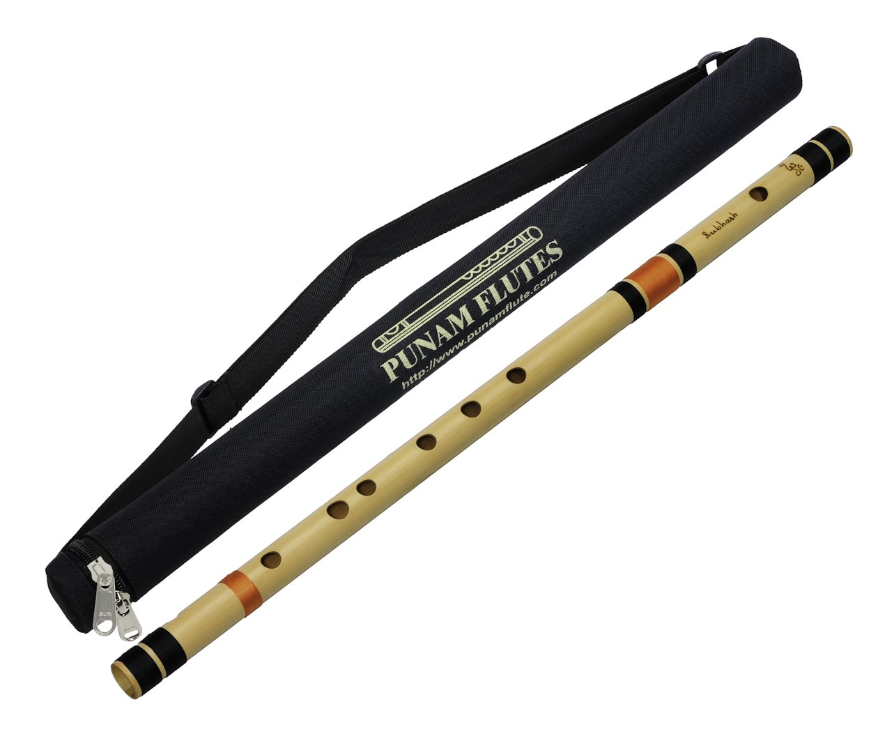 Punam Flutes A Natural Base Right Hand Bamboo Flute/Bansuri Size 22.5 Inches product image