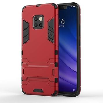 HUUH Funda Huawei Mate 20 Pro,Carcasa Huawei Mate 20 Pro Stent Invisible TPU + PC combinación Aspecto,Ajuste Simple Elegante Generoso fuselaje(Rojo)