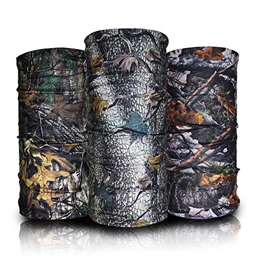 Eytan 12 Pcs Different Camouflage Forest Multifunctional Headwear For Hunting – Wear As Tube Camo Bandana, Sport Face Mask, Seamless Balaclava & headbands