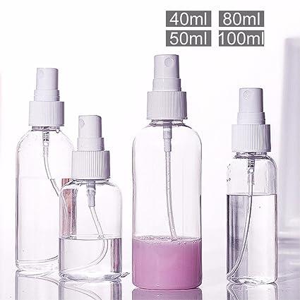 eqzq-spray botellas de agua fina niebla maquillaje cosméticos botella de Split plástico transparente botellas