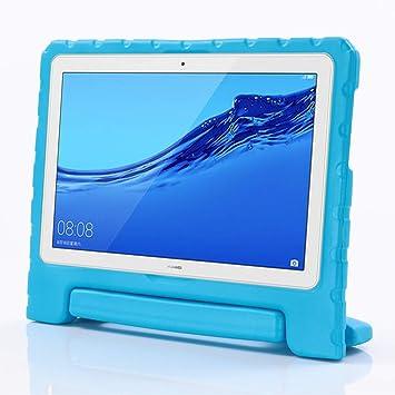 Funda para Huawei MediaPad M5 Lite 10 de i-original, a Prueba de Golpes, con asa para Huawei MediaPad M5 Lite de 10,1 Pulgadas 2018, Funda de Goma ...