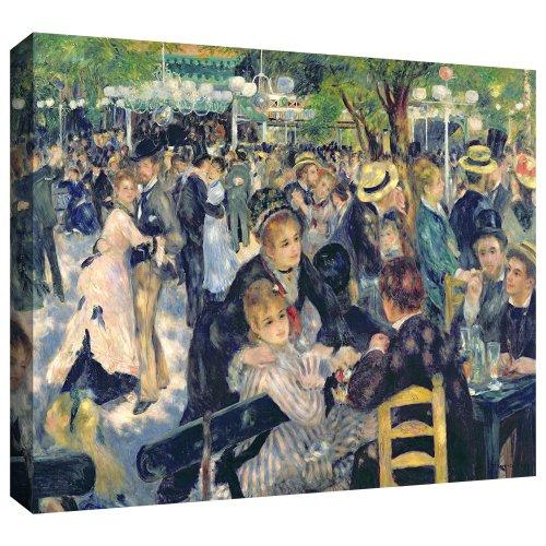 ArtWall 'Ball at The Moulin De La Galette' Gallery-Wrapped Canvas Art by Pierre Renoir, 18 by 24-Inch