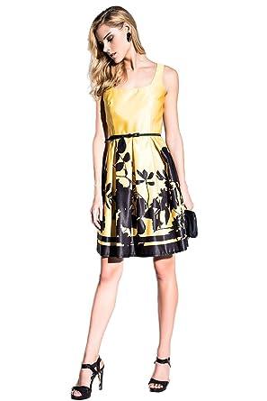 EDAS Luxus Filipino gelben kurzen Kleid: Amazon.de: Bekleidung