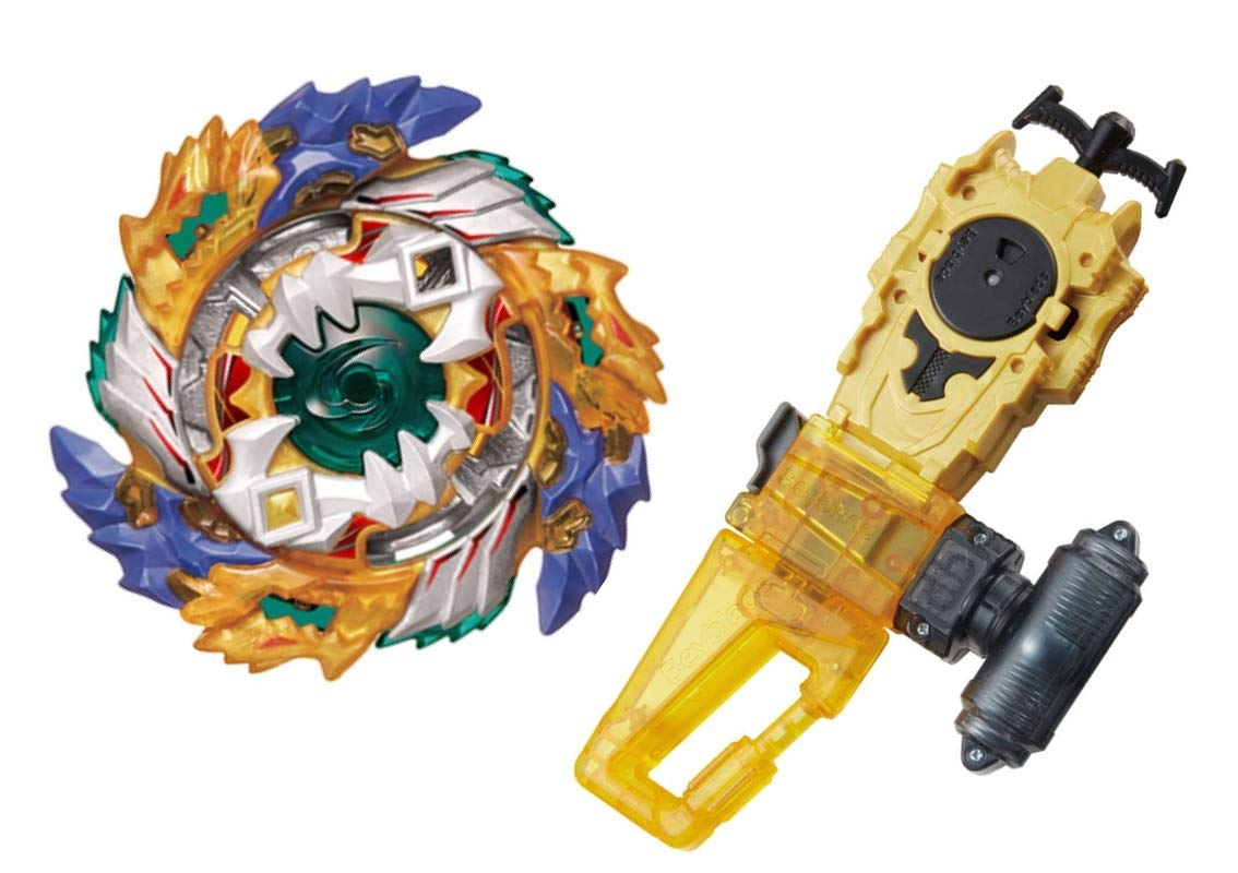 TAKARATOMY [B-122 Great Launcher Set] Full Compatible BeybladeBurst B-122 Starter Geist Fafnir .8'.Ab + Fafnir Reinforced Frame Included B-124 Long Baylauncher L Set [Japan Import]