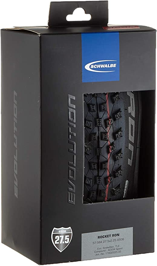 Cicli Bonin Schwalbe Rocket Ron Addix Speed TL Easy Snakeskin Neumáticos, Unisex Adulto, Negro, Talla única