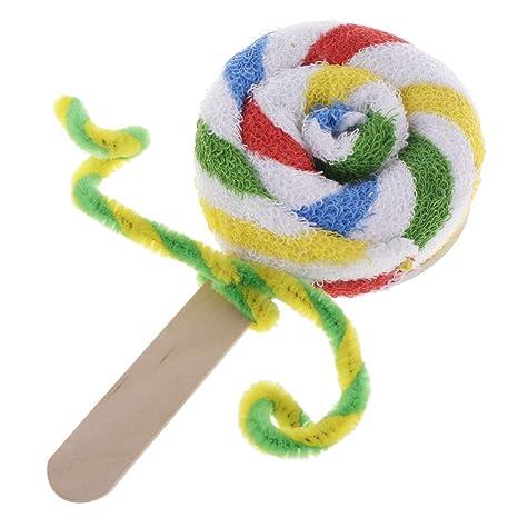 FLAMEER 1 Pieza Toalla Lollipop Hecha de Algodón Regalo para Navidad Suministro de Envoltorio Reserva de